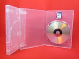 Single DVD case with SD card Holder
